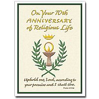 On Your 70th Anniversary of Religious Life