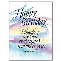 Happy Birthday: I Thank My God...