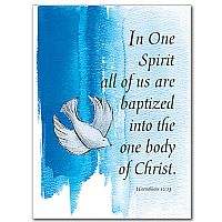 Born Again In Christ Adult Baptism Card