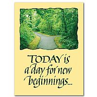Today is a day for new beginnings