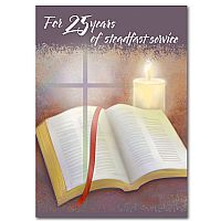 For 25 Years of Steadfast Service