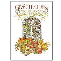 Give Thanks for the Lord's...