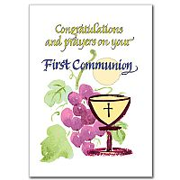 Congratulations and prayers on your First Communion