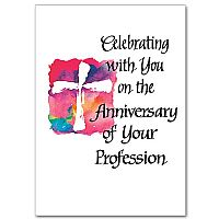 Celebrating with You on the Anniversary of Your Profession