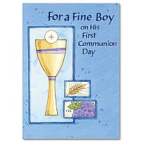 For a Fine Boy on His First Communion Day