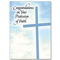 Congratulations on Your Profession of Faith