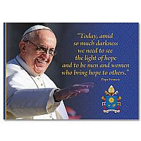 Pope Francis Blank Message Card