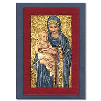 Mosaic Style Madonna and Child