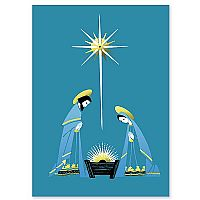 Blue Holy Family