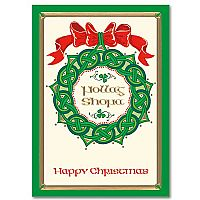 Happy Christmas Celtic Wreath