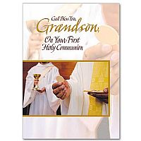 God Bless You, Grandson, On Your First Holy Communion