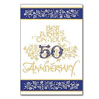 Best Wishes on Your 50th Anniversary