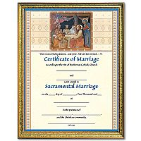 Framed Wedding Certificate
