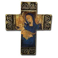 Blue Virgin and Child Cross
