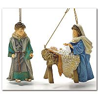 """Mama Says"" Holy Family Ornament Set"