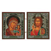 Christ Pantocrator and Virgin of Kazan Diptych