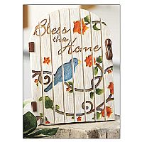 """Bless This Home"" Garden Gate Plaque"