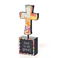 """God is So Good!"" Sculpture Cross"