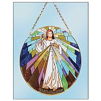 Divine Mercy Stained Glass Suncatcher