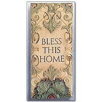 """Bless This Home"" Wall Plaque"