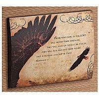 """Eagle's Wings"" Wall Plaque"