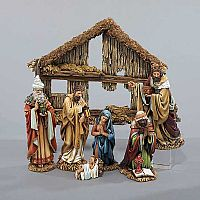 7 Piece Nativity Set with Creche