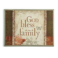God Bless Our Family Wall Art