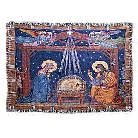 Birth of Jesus Nativity Tapestry Throw