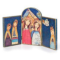 Nativity Hinged Tryptich Table Art