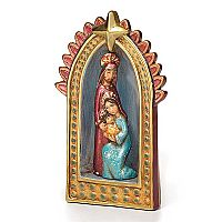 Holy Family in Gold Creche