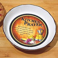 Kitchen Prayer Pie Plate