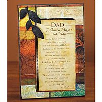 Dad, I Said a Prayer For You Plaque