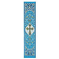 Cross on Blue Tapestry Bookmark
