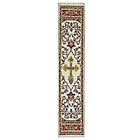 Cross on Red Tapestry Bookmark