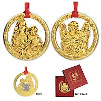 Madonna and Child/Angel Ornaments Set