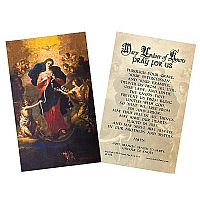 Mary, Undoer of Knots Laminated Holy Card