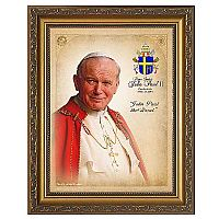 Pope Saint John Paul II Commemorative Portrait Framed Art