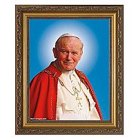 Pope Saint John Paul II Official Portrait Framed Art