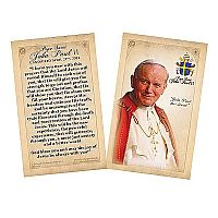 Pope Saint John Paul II Commemorative Quote Holy Card