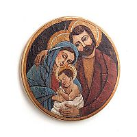 Holy Family Folk Art Wall Plaque