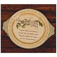 An Irish Christmas Blessing Platter
