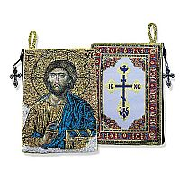 Christ the Teacher Tapestry Rosary Pouch