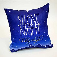 Silent Night Pillow Cover Design 3