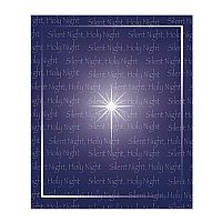 Silent Night Fleece Throw Blanket Design 1