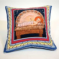 Basilica Nativity Pillow Cover Design 2