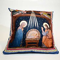 Basilica Nativity Pillow Cover Design 3
