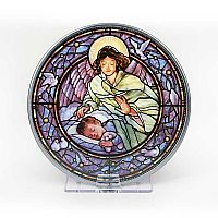 Guardian Angel over Boy Stained Glass