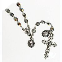 Italian Glass Vitrol Rosary with Medals