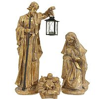 "Gold 22"" Holy Family Figurines"