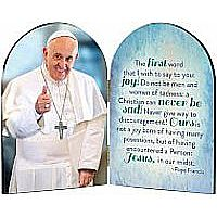 Pope Francis Thumbs Up Arched Diptych